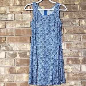 All That Jazz Blue Floral Sleevless Shift Dress